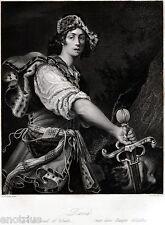 David di Alessandro Turchi, l'Orbetto. 2.Acciaio.Steel Engraving.STAHLSTICH.1850
