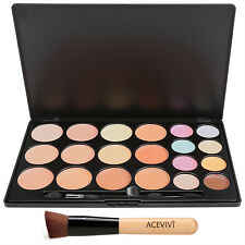 Cream Concealer Palette Makeup Foundation Blusher 20 Color Set Wooden Brush