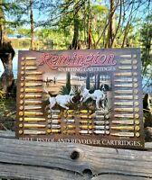 Remington Bullet Board Vintage Metal Tin Sign Wall Decor Garage Man Cave Shop US