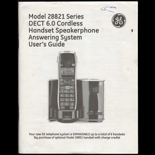 GE Wireless Phone 28821 Series (Owner's/User's Guide)