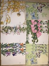 Vintage CURRENT Inc JUST A NOTES Fold Over Butterfly Flowers Stationery Set 16PC