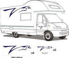 MOTORHOME VINYL GRAPHICS STICKERS DECALS SET CAMPER VAN RV CARAVAN HORSEBOX set1
