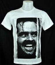 Jack Nicholson the shining White crew T-Shirt Punk Rock 100% Cotton tee Size Xl