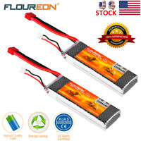 2Pcs 2S 7.4V 2200mAh 35C T Plug LiPo Battery for RC Car Truck Quadcopter Drone