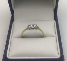 Vintage 18ct Gold & Diamond Trilogy Ring  Size P