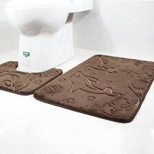Bath Mat Anti Non Slip Bathroom Door Shower Floor Toilet Rug Carpet New 2pcs/set