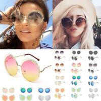 Oversized Round Sunglasses Women Fashion Large Size Big Retro Mirror Sun Glasses