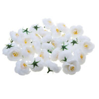 30 Artificial Camellia Silk Flower Heads Floral Wedding Party Decor White