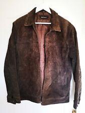 Men's Ben Sherman Brown suede leather designer jacket Medium size 2