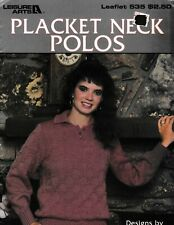 Placket Neck Polos Sweaters | Leisure Arts 535