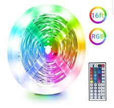 LED Strip Lights Kit 5M, RGB 5050 LEDs Colour Changing Rope Light Strip Kit with