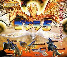 Bandai Godzilla HG Series 5 [Mothra King ghidorah etc.] Gashapon Figure Set of 6