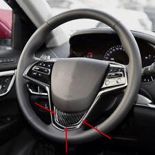 Carbon Fiber Car Steering Wheel Decorative Trim For Cadillac ATS 2014-2016