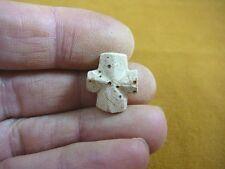 "(CR593-93) 5/8"" SMALL Fairy Stone CHRISTIAN CROSS Staurolite Crystal MATRIX"