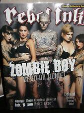 Rebel Ink     Zombie Boy      2013 magazine  new/unread/no-label
