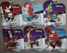 Hot Wheels Disney Character Cars Series 6 complete set sealed steamboat willie