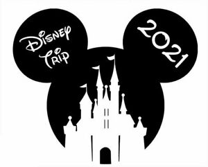 DISNEY ******MICKEY MOUSE****CASTLE ** VACATION 2021  T-SHIRT IRON ON TRANSFER