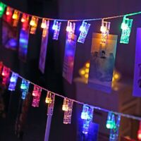 1.5M/3M/6M/10M LED String Lights Photo Clip Decoration Lights AA For Party