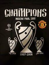 Vintage Manchester Moscow Final champions T shirt 2008... New