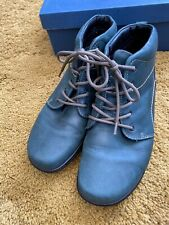 Hotter Ellery Womens Green Leather Lace up Ankle Boots, Size UK 6
