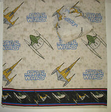 Vtg. 90's STAR WARS Twin Flat and Fitted Sheets Unused NAboo Star Fighters