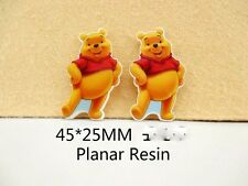 5 X 25 mm Winnie Pooh láser de corte de resina de reverso plano Arco diademas de elaboración de tarjetas