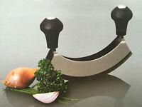 Wiegemesser Kräutermesser Hackmesser Messer EDELSTAHL Zerkleinerer Hacker