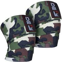 DEFY Weight Lifting Knee Wraps Training Gym Straps Power Lifter Gym Green Camo