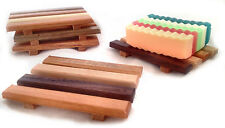 Wholesale Lot of 60 Reclaimed Wood Soap Dishes - Natural Wood - Made in USA