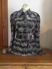 Diane Von Furstenberg Dvf Taupe Silk Velvet Black Sequin Blazer Jacket Size 4