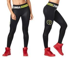 Zumba Fitness Varsity High Waist Ankle Leggings - Bold Black