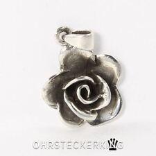Kettenanhänger Rose Echt Silber (925-Silber) Neu