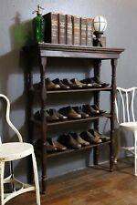 Antique Wooden Library Book Shelf Shoe Rack Primitive Vintage 3 tier wood stand
