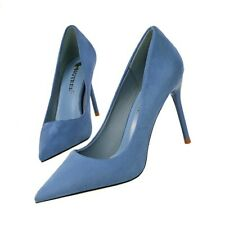 Womens Sexy Stiletto High Heels Pumps Pointed Toe Suede Shoes Party Clubwear