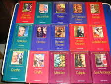 Lotto serie collezione LE GRANDI BIOGRAFIE biografia 62 libri volumi Fabbri