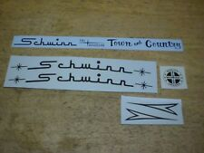 Complete Schwinn Approved Town And Country Tri Wheeler Black Bicycle Decal Set
