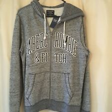Abercrombie Fitch Mens Zip Up Hoodie Size S New