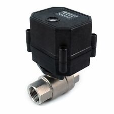 """1/2"""" Motorized Ball Valve Stainless SS EPDM 9 V, 12 to 24 VDC/VAC 2-wire N/O"""