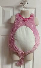 TODDLER GIRL PINK FURRY CAT COSTUME WITH TAIL SIZE 0-6 MONTHS THE CHILDRENS PLA