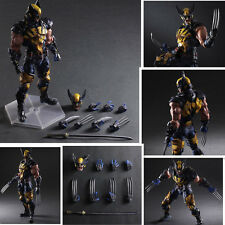 HOT Play Arts Kai Wolverine X-MEN PVC Action Figure Toy Model Statue 28cm
