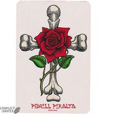 "POWELL PERALTA ""Rose Cross"" Skateboard Surfboard Snowboard Sticker 15cm x 10cm"