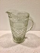 Vintage Depression Glass Ornate Pitcher Water/Juice - Very Nice- No Chips!