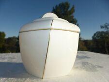 BEAUTIFUL Rare WHITE Porcelain Gold Trim Covered Jar by Valentino Garavani
