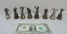 Lot of 8- Disney Silver Bells-Mickey, Dumbo, Goofy, Timothy Q Mouse, Donald Duck
