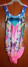 XHILARAION Girls Size 10/12 ONE-PIECE SWIMSUIT (Unicorns Butterflies) New w/ Tag