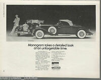 1931 ROLLS ROYCE Monogram model advertisement, British advert 1977