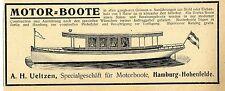 Specialgeschäft für Motorboote A.H.Ueltzen Hamburg-Hohenfelde Annonce 1904