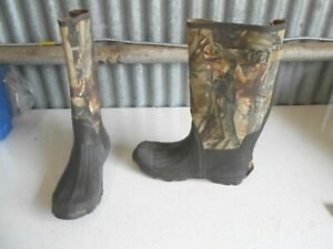 Ozark Trail Fusion 3.0 Camo Camouflage Waterproof Rubber Boots Mens Size 12