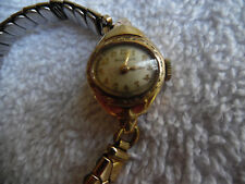 Bulova Watch 10k Rolled Gold Plate Womens Speidel Band 160-31AA6