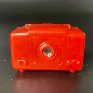 Vintage Plastic Tom Mix TV Viewer RCA Victor Doll House Miniature RED